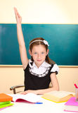 schoolgirl in classroom Royalty Free Stock Photos