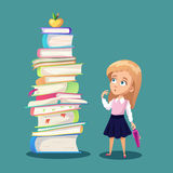 Schoolgirl concept illustration Royalty Free Stock Photos