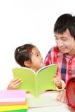 Schoolgirl doing homework Stock Photos