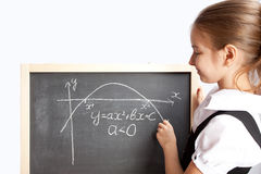 Schoolgirl, draws the schedule Stock Images