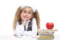 Schoolgirl dreaming Royalty Free Stock Image