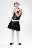 Schoolgirl in dress Royalty Free Stock Images