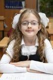 Schoolgirl of an elementary school Royalty Free Stock Images