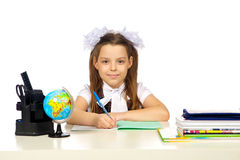 Schoolgirl Elementary School Royalty Free Stock Photos