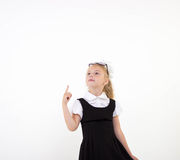 Schoolgirl get an idea Stock Photos