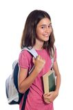 Schoolgirl holding book Stock Photography