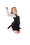 Schoolgirl jumps Stock Photos