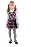 Schoolgirl With Laptop. Stock Photography