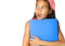 Schoolgirl looking shock Stock Photography