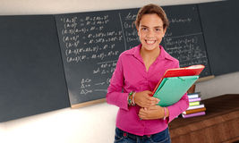 Schoolgirl in Maths Royalty Free Stock Photography