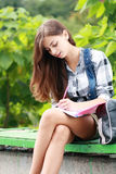 Schoolgirl Outdoor Stock Images