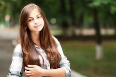 Schoolgirl Outdoor Royalty Free Stock Photo