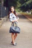 Schoolgirl Outdoor Stock Photo