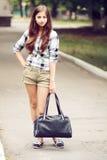 Schoolgirl Outdoor stock image