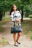 Schoolgirl Outdoor Royalty Free Stock Photos