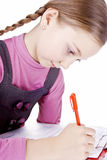 Schoolgirl passed the test perfectly Stock Image