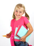 Schoolgirl ready for school Royalty Free Stock Images