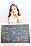 Schoolgirl on a school board Stock Photos