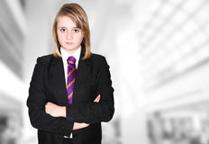 Schoolgirl School bully Stock Photos