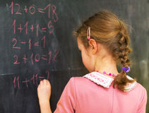 Schoolgirl at school. Stock Photo