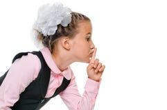 Schoolgirl secret Royalty Free Stock Image