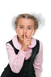 Schoolgirl secret Stock Photo