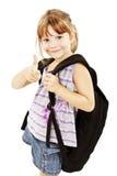 Schoolgirl showing OK sign Stock Photography