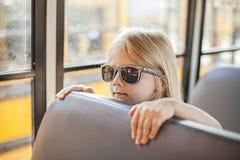 Inside school bus royalty free stock image