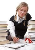 Schoolgirl or student writing Stock Photos
