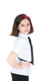 The schoolgirl in a uniform Stock Images