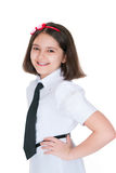 The schoolgirl in a uniform Royalty Free Stock Photo