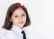 The schoolgirl in a uniform Royalty Free Stock Image