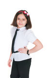 The schoolgirl in a uniform Stock Photography