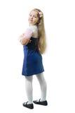 Schoolgirl in uniform Royalty Free Stock Photos