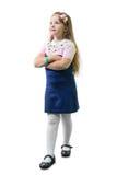 Schoolgirl in uniform Royalty Free Stock Images