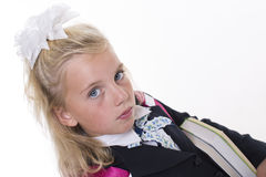 Schoolgirl in uniform Royalty Free Stock Images