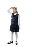 Schoolgirl in uniform Stock Photography