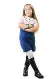 Schoolgirl in uniform Stock Images