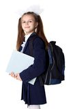 Schoolgirl With Backpack Royalty Free Stock Image