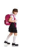Schoolgirl With Bag Stock Photography