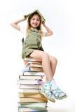 Schoolgirl With Books Royalty Free Stock Image