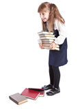 Schoolgirl witn books Stock Image