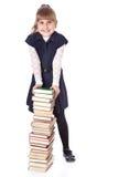Schoolgirl witn books Stock Images