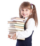 Schoolgirl witn books Stock Photo