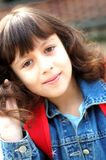 schoolgirlbarn Royaltyfria Bilder