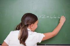 Schoolgirlhandstil numrerar Arkivbild