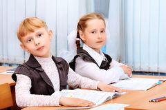Schoolgirls Royalty Free Stock Images