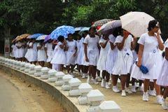 schoolgirls Royalty-vrije Stock Afbeeldingen