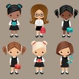 schoolgirls Fotografia Stock Libera da Diritti