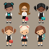 Schoolgirls Royalty Free Stock Photography